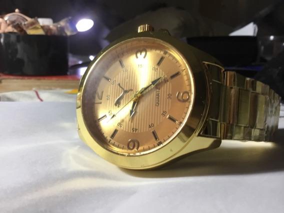 Relógio Puma, Masculino, Todo Dourado, Novo, Quartz,a 399,00