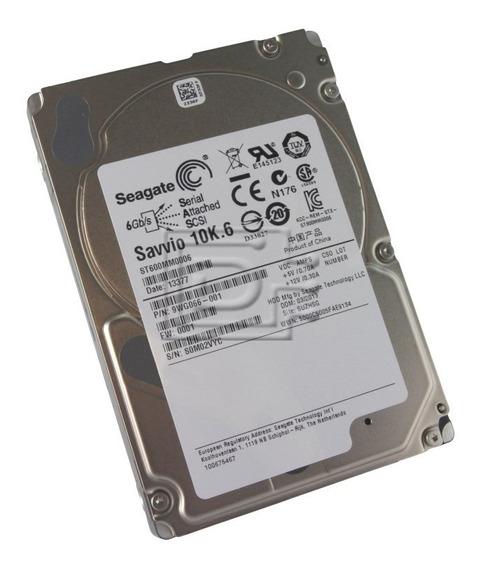 Hd Servidor Dell Sas 600gb 10k 2.5 St600mm0006 Pn: 0b34156