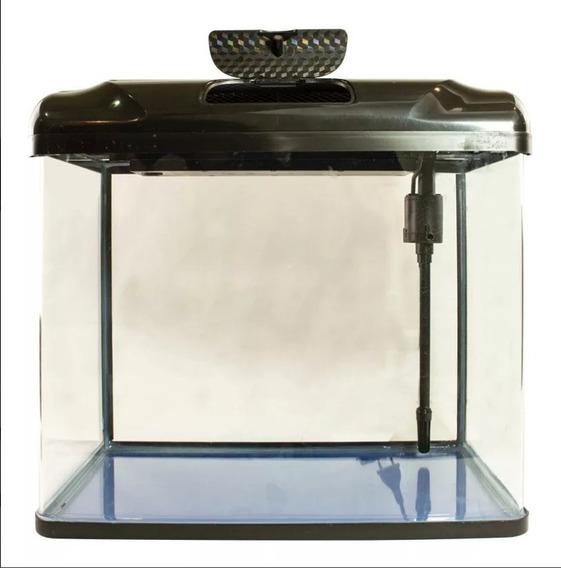 Aquário Acrílico Rs 300 - 15 Litros Com Luz Led Bomba Filtro