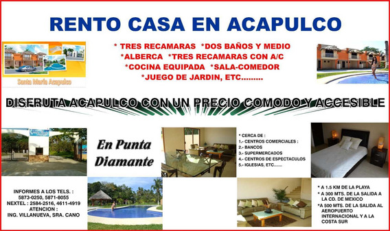 Hermosa Casa En Punta Diamante Acapulco