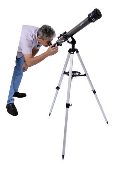 Telescópio Astronômico Skylife Gemini Profissional + Cd Rom - Skylife Marca Especialista Em Produtos Astronômicos