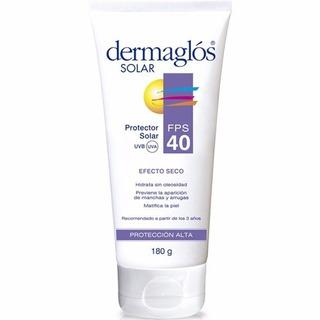 Protector Solar Dermaglos Fps40 Efecto Seco X 180 Gs