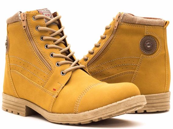 Sapato Botina Casual Social Masculino Ziper Bota Urban Worke