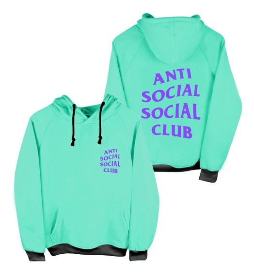 Sudadera Con Gorro Antisocial Social Club Swag Moda Adulto