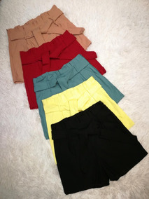 Shorts Cintura Alta Feminino Bengaline 2019 Roupas