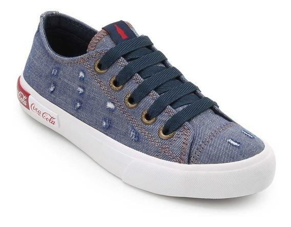 Tênis Coca Cola Feminino Basket Blend Wear Jeans Cc1690