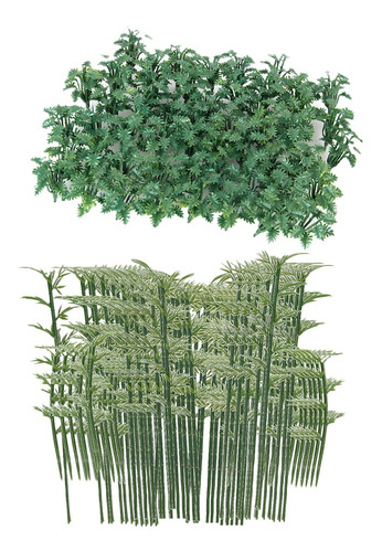 Imagen 1 de 6 de 100x Árboles De Bambú + 50x Cobertura De Suelo Modelo De
