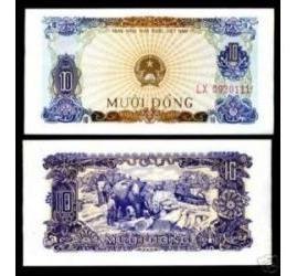 Vietnã 10 Dong 1976 P. 82 Fe Cédula - Tchequito