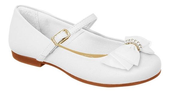 Sapato Infantil Angel 10 Pampili Branco