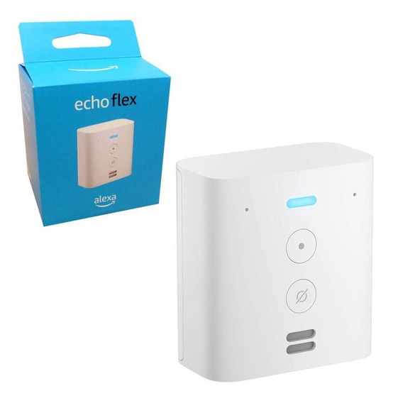 Smart Speaker Amazon Plug-in Com Alexa Echo Flex Em Inglês