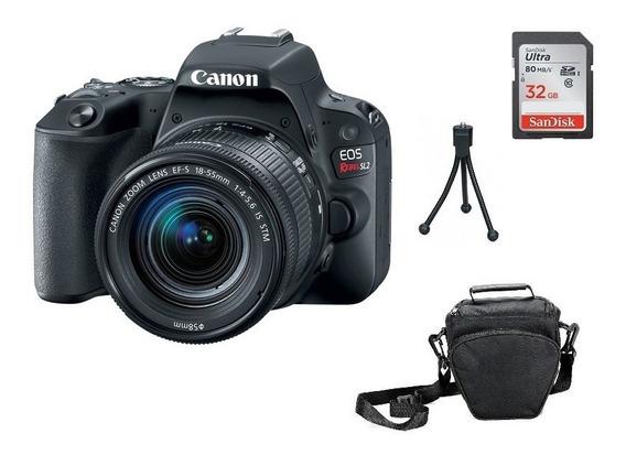 Kit Câmera Canon Sl2 18-55mm Is Stm Garantia Brasil Novo