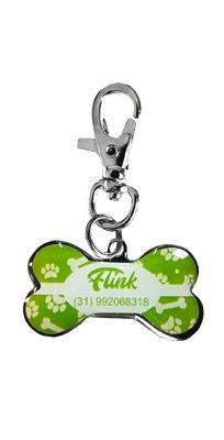 Pingente Personalizado P/ Cães Patinhas Verdes
