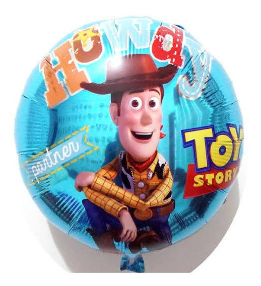 Globo Metálico Toy Story Woody Paquete 10 Piezas (45cm)
