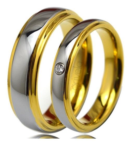 Bodas De Casamento Par De Alianças 6mm E 4mm