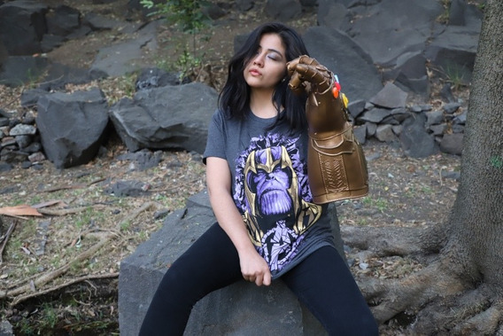 Playera Thanos Máscara De Latex Avengers Endgame