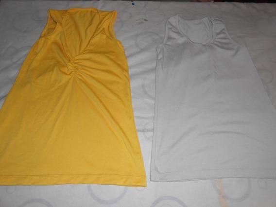Son 2 Musculosas Amarilla Frunse Y Otra Muy Bonitas!!