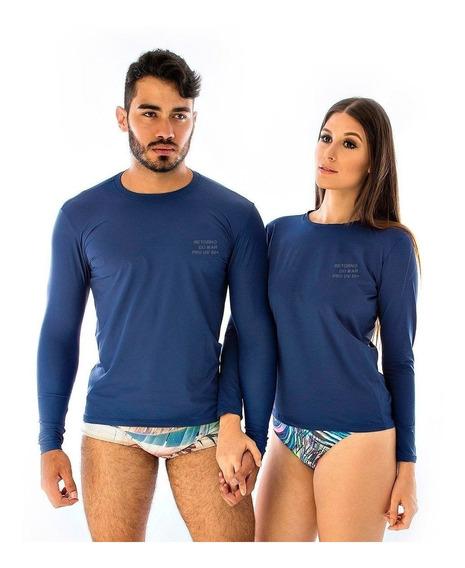 Camiseta Proteção Solar Uv Corrida Natação Pesca Unissex
