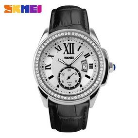 Relógio Skmei De Luxo Original Pulseira Couro Modelo 1147
