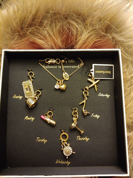 Remato Bellísimo Set Collar Y Charms Juicy Couture 7 Day´s
