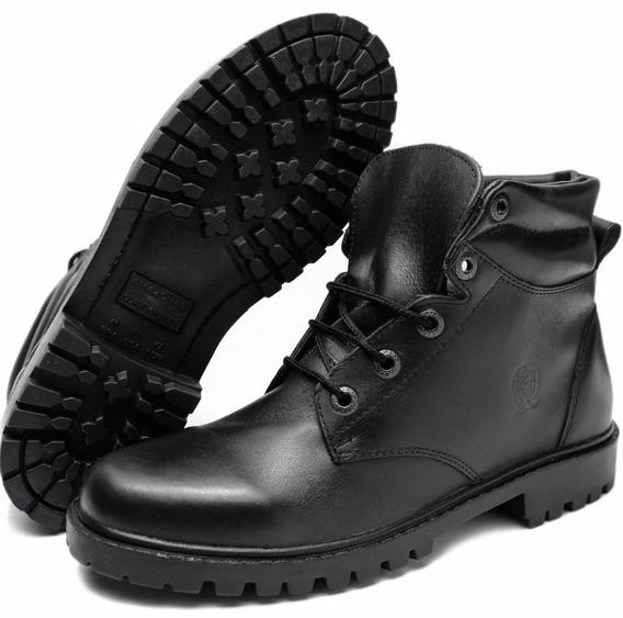 Sapato Bota Coturno Masculino Adventure Couro Legitimo Socia