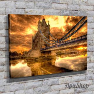 Cuadros Lienzo Tela 75x50 Puente Tower Bridge Londres Y Más