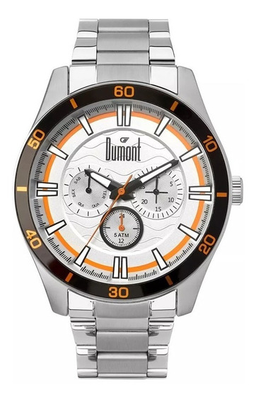Relógio Dumont Masculino Du6p29acc/3k Com Nf Full