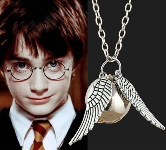 Colar Pomo De Ouro Harry Potter Golden Snitch