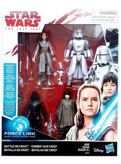 Star Wars Last Jedi Pack 4 Figuras Battle On Crait Star 3,75