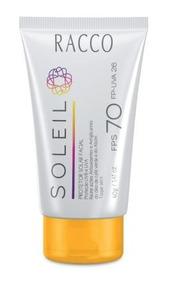 Protetor Solar Facial Fps70 Racco - 40 G