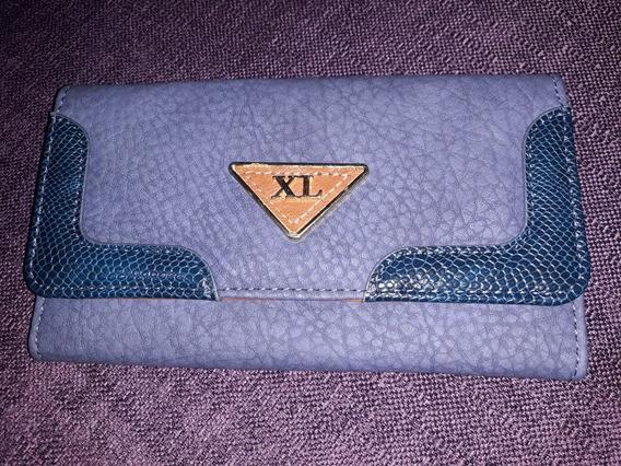 Billetera Xl Extra Large Azul. Hermosisima!