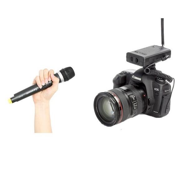 Microfone P/ Entrevista Saramonic Sr-hm4c Sem Fio + Receptor