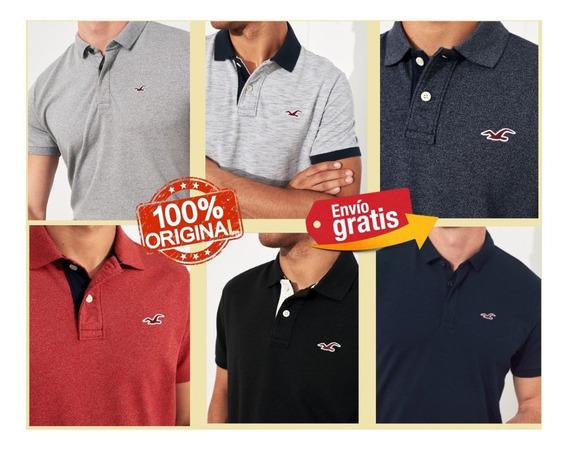Camisetas Hollister Polo De Algodon 100% Originales Oferta!!