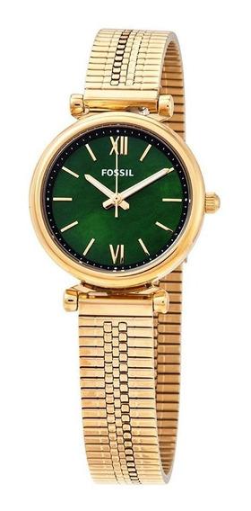 Relógio Fossil Carlie Mini Quartzo Verde Dial Es4645