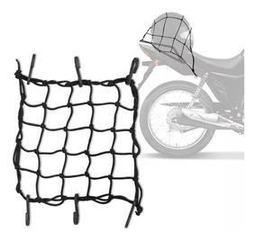 Rede Elástica Aranha Para Capacete Ou Carga 45x45 Preta