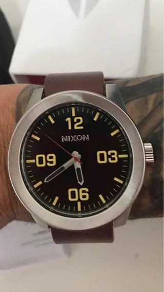 Relogio Nixon Corporal Brown Leather, Único No Brasil , Un
