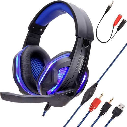 Headphone Gamer Jwcom Usb Microfone Pc Not Ps4 Cel Com Led
