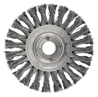 Escova Circular Trançada 150 X 22,2 Mm 24 Nós Brasfort-7272