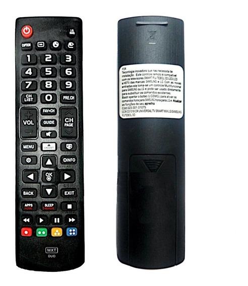 10 Unidades Controle Universal 2 Em 1 Tv Lg / Samsung Smart