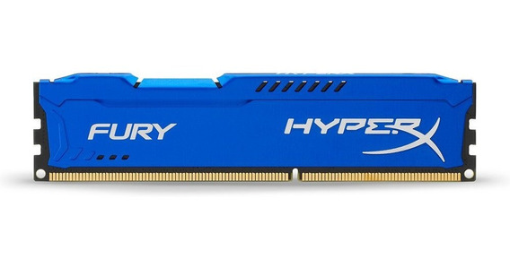 Memoria Ram 4gb Kingston Hyperx Fury 1866mhz Ddr3 Cl10 Dimm -blue (hx318c10f/4)