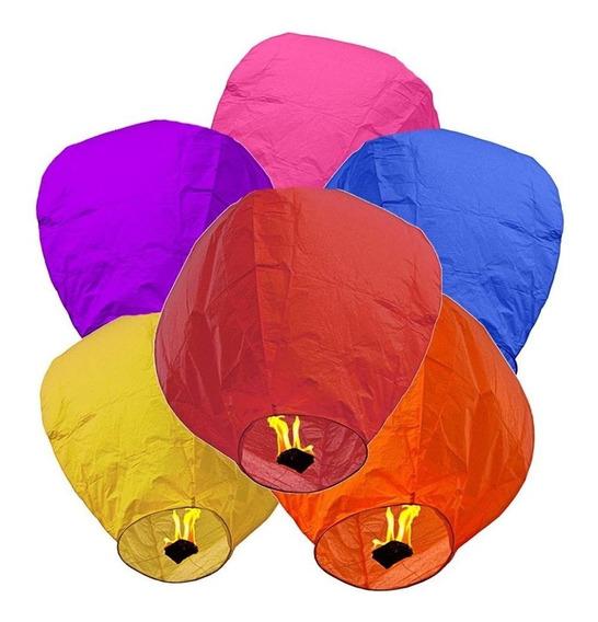 10 Globos Cantoya Colores Boda Linterna China