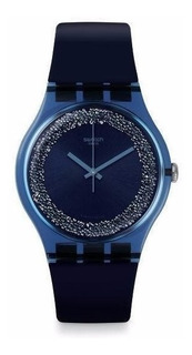 Reloj Mujer Swatch Suon134 Blusparkles + Regalo X Local !!!!