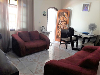 Casa Térrea Geminada 2 Dormitórios Vila Tupi - Praia Grande