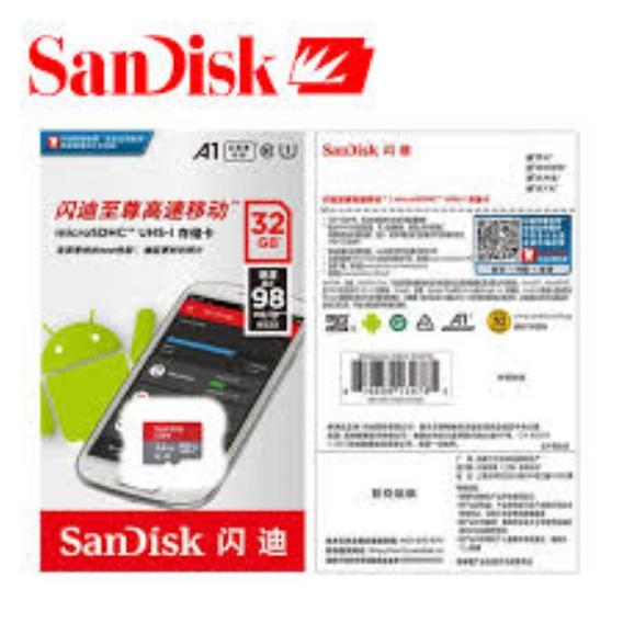 Cartão Microsdhc 32gb Sandisk Ultra A1 Original Lacrado
