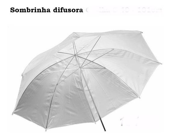 Kit 1 Sombrinha Branca Difusora Greika + 1 Sombrinha Prata