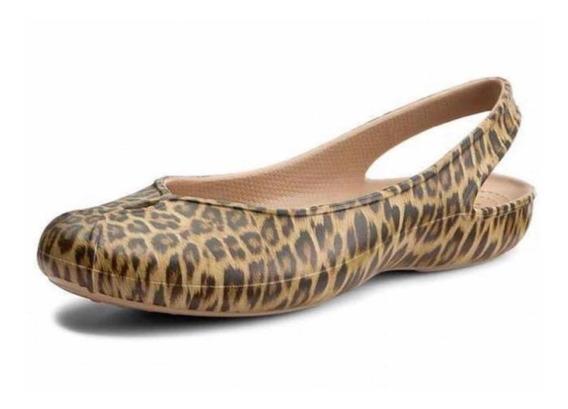 Crocs Sandalia Para Dama Modelo Oliva Il Leopard Talla 22 Mx