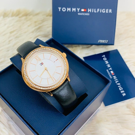 Relógio Feminino Tommy Hilfiger Couro Preto - 1781853