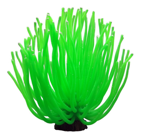 Enfeite Maxxi Anêmona Verde Ys-1105xlg Ornamento Para Aquários