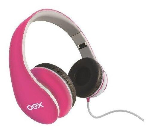 Fone De Ouvido Headset Sense Hp100 Rosa Com Microfone Oex