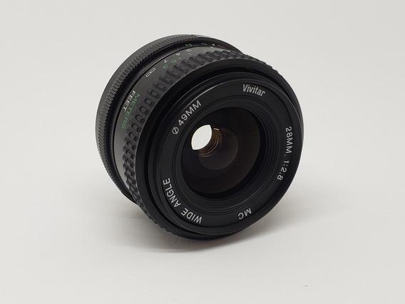Lente Grande Angular Vivitar 28mm - 49 - 1:2.8