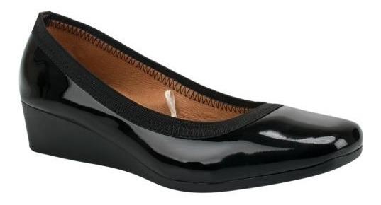 Zapatos Tacón Wedge Corrido Charol Confort Plataforma Cuñas